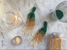 Here is a guide on how to make these supertrendy earrings, using glass beads. Vary the colors however you like. Such a cool DIY!