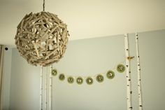 Eclectic lighting from @worldmarket in this woodland nursery