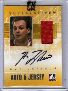 GUY LAFLEUR 09/10 ITG SUPERLATIVE Jersey Auto Autograph Montreal Canadiens Card | eBay