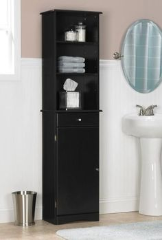 16 Wonderful Black Bathroom Storage Cabinet Photograph Ideas