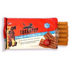 TurboPUP Meal Bar for Dogs (3 Single Bars) Bacon Flavored ~ You can see this great product. (This is an affiliate link and I receive a commission for the sales)