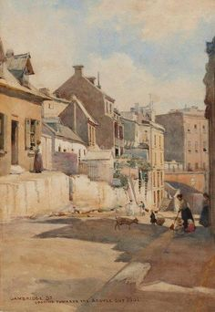 Cambridge Street looking towards the Argyle Cut 1888 by Julian Ashton (1851-1949) - Art Gallery NSW