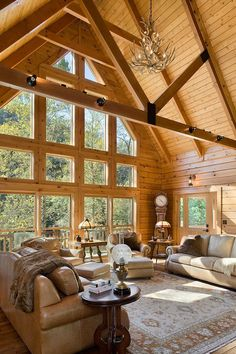 Log Cabin Interior Design Ideas, Pictures, Remodel and Decor | Dream ...