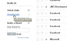 Create quick links for your important emails