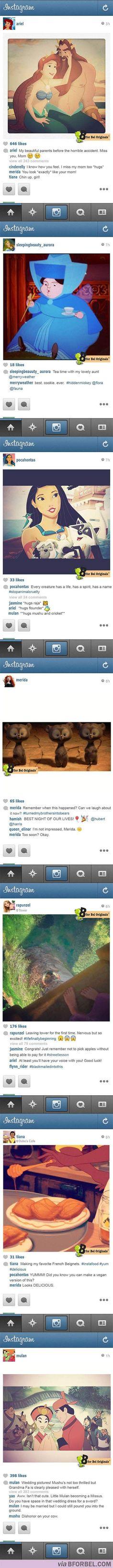 If Disney princesses had Instagram...Hilarious!: