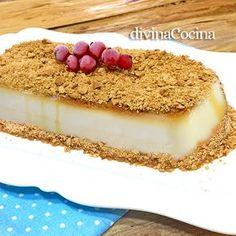 creme caramel cake with cookies topping Creme Caramel, Cheesecakes, Vanilla Cake, Food And Drink, Easy Meals, Cooking Recipes, Favorite Recipes, Chocolate, Sweet