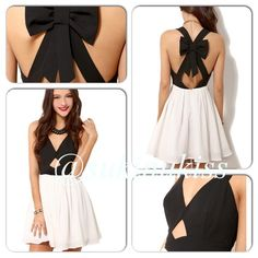 Sexy Bowknot Dress Crisscross bowknot dress sleeveless, with flare on skirt. Polyester. This is preorder it usually takes for this one 2-7 days to arrive. Do not buy from this listing please tag me with your size and I'll make new listing. thank you!!! Dresses