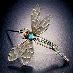 Art Nouveau opal dragonfly, 1890-1914