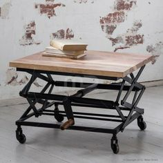 Adjustable Iron Coffee Table - Industrial Furniture - Buy Vintage Tables & Vintage Dressing Table - Milan Direct