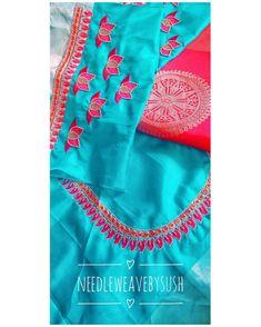 Wedding Saree Blouse Designs, Blouse Designs Silk, Blue Silk Saree, Embroidery Blouses, Work Blouse, Blouse Styles, Machine Embroidery Designs, Sarees, Gold Jewelry