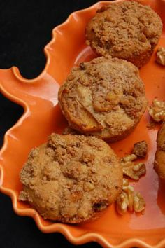 A Happy Halloween Treat: Gluten Free Streusel Mulled Apple Cider Muffin Recipe Brunch Recipes, Fall Recipes, Great Recipes, Whole Food Recipes, Gluten Free Muffins, Gluten Free Treats, Foods With Gluten, Sans Gluten, Apple Cider Muffin Recipe