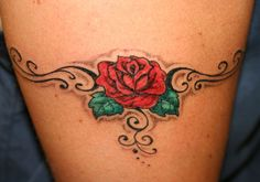 traditional remembrance tattoos | 26 Beautiful Traditional Rose Tattoo Designs