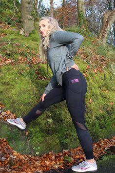 Mesh panel, lightweight, 4- way stretch fabric Pink Workout, 4 Way Stretch Fabric, Mesh Panel, Sports Leggings, Sporty, Fitness, Black, Style, Fashion