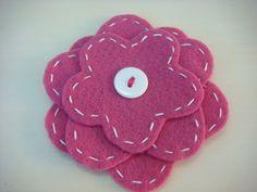 Costurinhas Craft: Tic Tac de Flor de Feltro