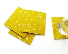 Patterned Felt Coasters from Cotton & Flax