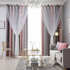Curtains 1 Panel, Home Curtains, Kids Curtains, Curtains For Bedroom Window, Curtains With Sheers, Curtains For Girls Room, Wall Curtains, Kids Blackout Curtains, Gray Curtains