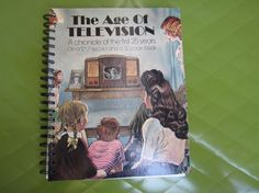 The Age of Television Record Cover Upcycled Notebook Spiral Bound