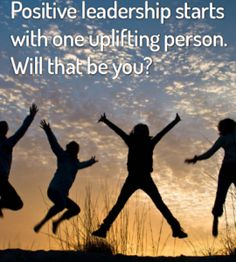 Are you an uplifting person at work? Positive Leadership amplifies performance and pleasure at work. All it takes is you… Read how at http://www.leadershipandchangemagazine.com/positive-leadership-will-that-be-you/