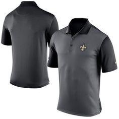 Nike New Orleans Saints Charcoal Preseason Performance Polo