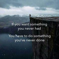 Doe wat je nooit deed