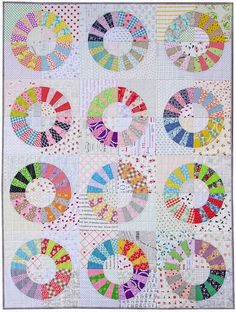 Scrappy Color Wheel Quilt | Red Pepper Quilts