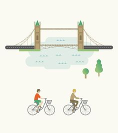 Bikeways in Moscow and the world's megacities on Behance