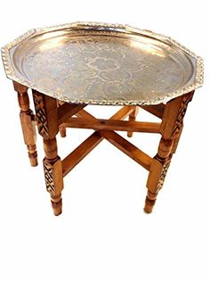 "Vintage Moroccan Tea Folding Table 22"" Decagonal Engraved Metal Tray Top Moroccan http://www.amazon.com/dp/B00V5E5O3S/ref=cm_sw_r_pi_dp_CQCevb0JVAF01"