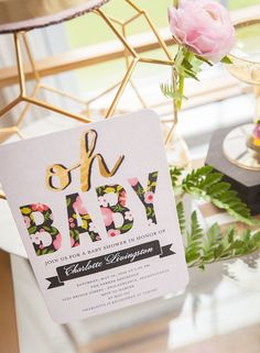 Geometric Floral Baby Shower