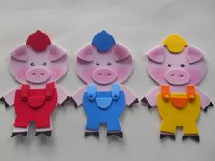 The Three Little Pigs Kids Crafts, Disney Crafts For Kids, Felt Crafts, Diy And Crafts, Craft Projects, Paper Crafts, House Quilts, Baby Quilts, Infant Activities