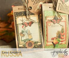 Thanksgiving decor-Botanicabella-Tutorial by Lena Astafeva-Product by Graphic 45-65