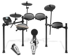 Buy Alesis Drums Nitro Mesh Kit - Eight Piece Mesh Electric Drum Set With 385 Electronic / Acoustic Drum Kit Sounds and Solid Aluminium Rack. Electric Drum Set, Drum Throne, Drum Key, Modern Drummer, Cable Drum, Electronic Kits, Drum Heads, Drum Lessons, Drum