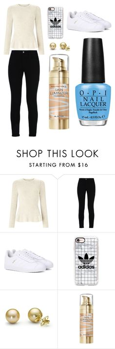 """Sans titre #3370"" by merveille67120 ❤ liked on Polyvore featuring Miss Selfridge, STELLA McCARTNEY, adidas Originals, Casetify, Max Factor and OPI"