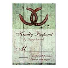 See MoreRustic Horseshoes Country Style Wedding RSVP Custom InvitesWe have the best promotion for you and if you are interested in the related item or need more information reviews from the x customer who are own of them before please follow the link to see fully reviews