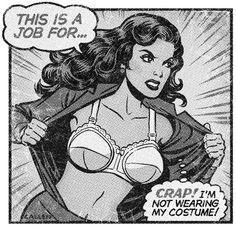 Vintage Comic -- Super hero fail