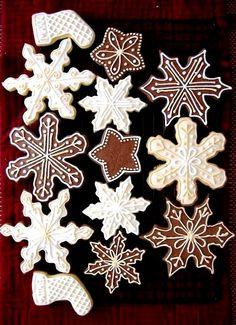 Christmas cookies beautiful gingerbread snowflakes ToniKami ℬe Meℜℜy