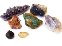 Chakra Stones, Rough Gemstone Collection, Instant Collection of Rocks for Reiki, New Age Healing Supplies, 7 Metaphysical Minerals, Rainbow. $65.00, via Etsy.
