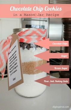 Mason Jar Chocolate Chip Cookies Recipe with Video