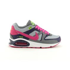 womens nike air max navigate athletic shoe gray/charcoal/pink