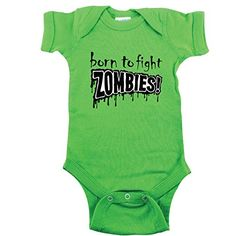 2edc12f4 Born to Fight Zombies, Funny Baby Shirt #cute #zombie #baby clothes #