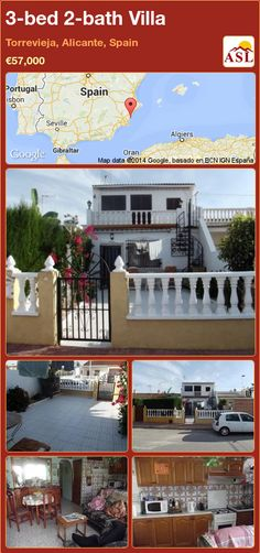 3-bed 2-bath Villa in Torrevieja, Alicante, Spain ►€57,000 #PropertyForSaleInSpain