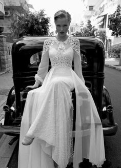 What do you think of this wedding dress?                                          Inspiration for remake of my mothers vintage wedding dress from the 70s