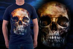 Estampa 'skull night' no Camiseteria.com. Autoria de bruno de oliveira http://cami.st/d/56176