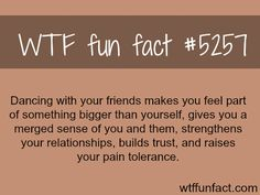 Dancing with friends - WTF fun facts (and this is why I enjoy square dancing so… Wow Facts, Wtf Fun Facts, Funny Facts, Crazy Facts, Random Facts, Strange Facts, Pointless Facts, Random Stuff, The More You Know