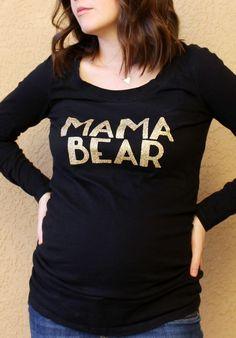 DIY Mama Bear Glitter Iron On Transfer Glitter Shirt Tutorial with Cricut Explore: Child at Heart Blog