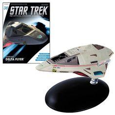 Star Trek Starships Delta Flyer Vehicle & Collector Magazine