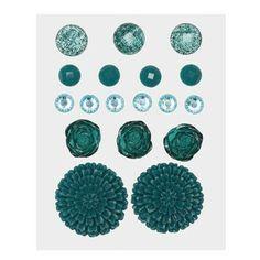 Z1891 -- Base & Bling Teal Jewels -- $5.95. 2 – 22mm resin flowers 3 – 12mm acrylic flowers 6 – 6mm sparkles 4 – 7mm enamel gems 3 – 10mm glitter gems SHOP: www.keeleyskreations.ctmh.com
