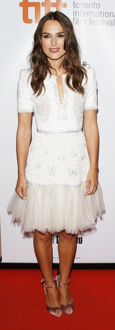 Keira Knightley's Winter white party dress means we can expect flawless maternity style from the mama-to-be.