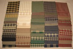 Dunroven House 60 Primitive Homespun & Solid Fabric  Fat Quarters #Dunroven