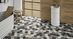 Cursa Anthracite Hex Floor Tiles