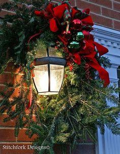 Christmas decoration outside... C.B.I.D. Home Decor & Design.